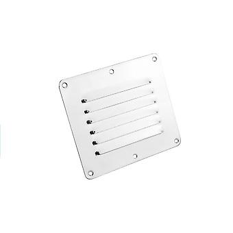 Stainless Steel 316 Boat Marine Square Air Vent Louver / Grille