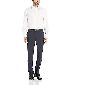 Märke - Knäppt ner Män & s Skräddarsydda Passform Prestanda Tech Stretch Klänning Skjorta, Supima Cotton Easy Care