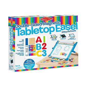 Melissa & doug - 12790   wooden double-sided tabletop easel
