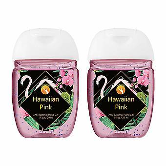 HandiGel Pocket Size Hand Sanitizers Antibacterial Gel, 29ml-Hawaiian Pink, 2pk