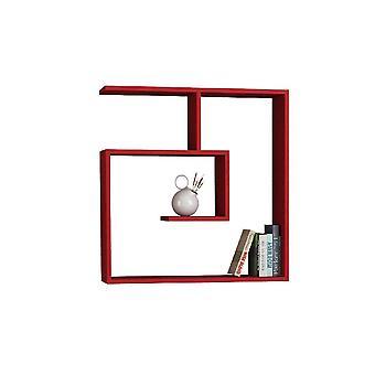 Laby Estante Rojo Color en Chipboard de Melamina, L75xP22xA75 cm
