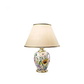 Lámpara De Sobremesa Giardino Oro 24 Quilates 1 Bombilla, Altura 34 Cm