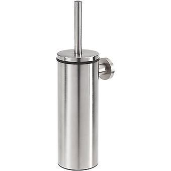 Tiger Boston Toilet Brush and Holder, Stainless Steel Brushed, 9.3 x 35.6 x 12.6 cm
