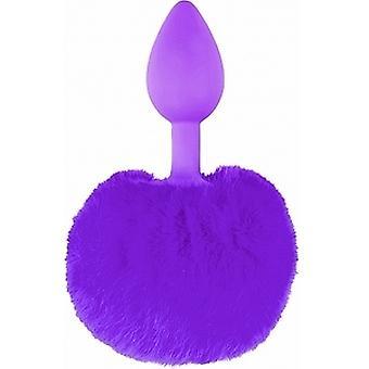 Pipedream Purple Silicone Bunny Tail Plug