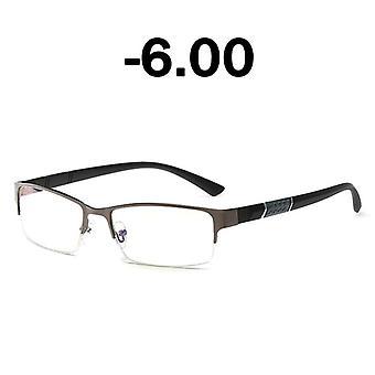 Half Frame Men Business Finished Myopia Glasses