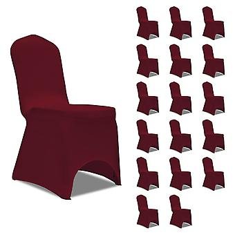 vidaXL Stretch chair hussen Burgundy red 18 pcs.