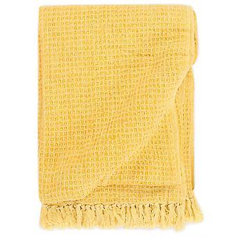 vidaXL rolka bawełna 220x250 cm musztarda żółty