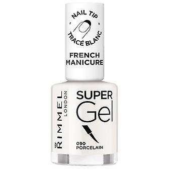 Rimmel London Super Gel French Maniküre 090 Porzellan