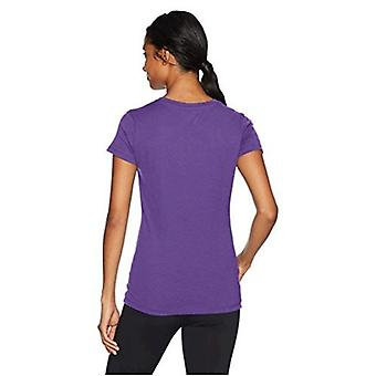 Soffe Women's V-Neck Tissue Tee, Purple, Large