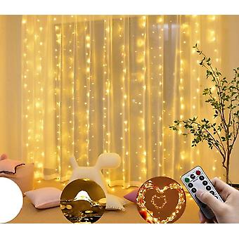 Curtain Led 300led Usb Fairy Icicle Copper Wire Remote Control Light
