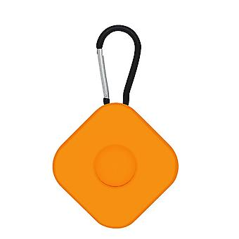 2Pcs for airtags protective case anti lost keychain square  orange