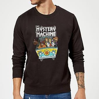 Scooby Doo Mystery Machine Heavy Metal Long Sleeve Sweatshirt Jumper Top - Black