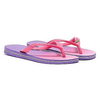 Havaianas Brasil Fresh Womens Dark Purple Flip Flops