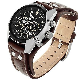 Fossil Analog Men with leather strap CH2891
