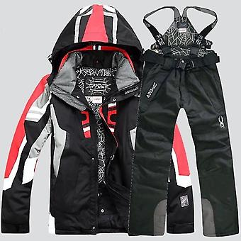 Ski Suit Male Waterproof Breathable Snow Jacket +pant