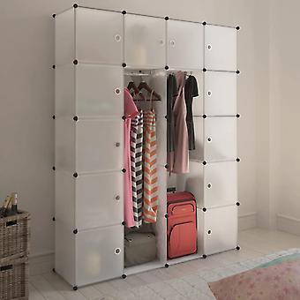 vidaXL Armoire modulaire avec 14 compartiments blanc 37 x 146 x 180,5 cm