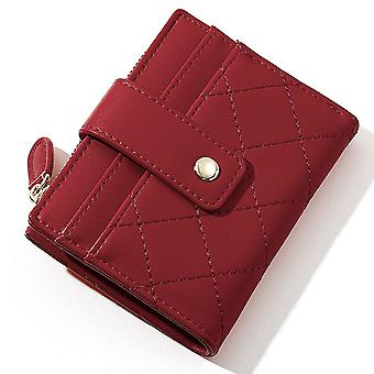 Ultra-thin multi-card slot pu card holder simple short ladies coin purse