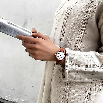 Women's Watches, Leather Quartz Watch, Simple Clock, Wristwatches