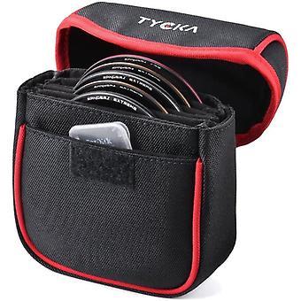 Wokex Filter Aufbewahrung, 5 Taschenbeutel Filter Tasche für Bis Zu 86mm Rundenfilter,