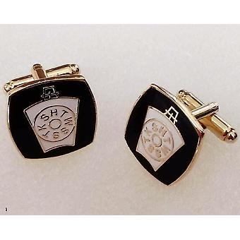 Kshtwsst black gold masonic cufflinks