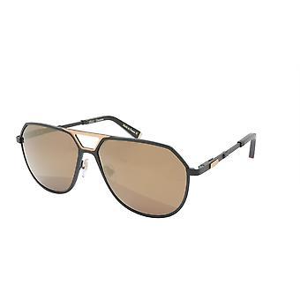 ZILLI Sunglasses Titanium Acetate Leather Polarized France Handmade ZI 65023 C06