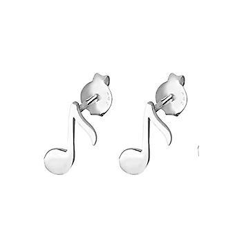 Elli korvakorut nainen musiikki muistiinpano klassinen symboli leikkisä Sterling Hopea 925