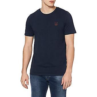 JACK &JONES JJEDENIM Logo T-Shirt SS O-Ausschnitt Noos T-Shirt, Dunkelblau Jacke, XXL Herren