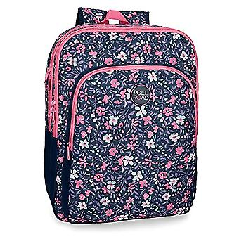 ROLL ROAD Spring School backpack double compartment adaptable to trolley Multicolore 33x42x17 cms Polyester 0.24L