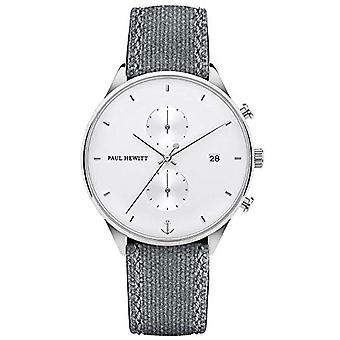 PAUL HEWITT Men's Chrono Line White Sand Chronograph, Men's Steel Chronograph (Silver), Men's Wristwatch with Ref Stopwatch. 4251158741192
