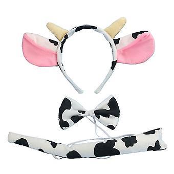 מסיבת ילדים להתלבש תלבושות, סרט פרה בקר, אוזניים עניבת פרפר, פרה זנב