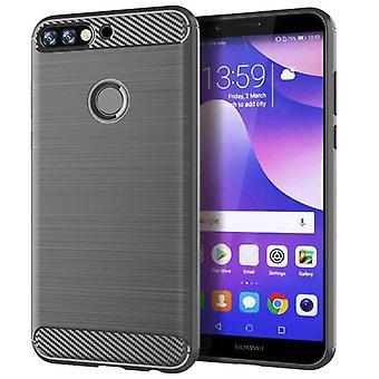 Tpu carbon fibre case for huawei nova lite 2 grey mfkj-448