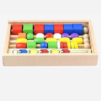 Drewniany kolor geometryczny Math Learning Edukacyjna Gra Dla Małych Dzieci Zabawki dla dzieci| Bloki