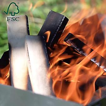 Brennholz mit Kaminanzünder aus FSC Birke - Supertrockenes und Sauberes Feuerholz mit Anzünder für