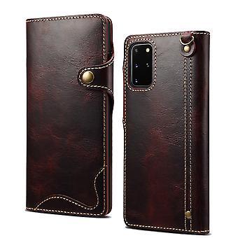 Slot per la custodia del portafoglio in vera pelle per iphone 7g / 8g / se 2020 vino pc634