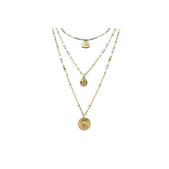 Boho betty bella grey 3 layering necklace set