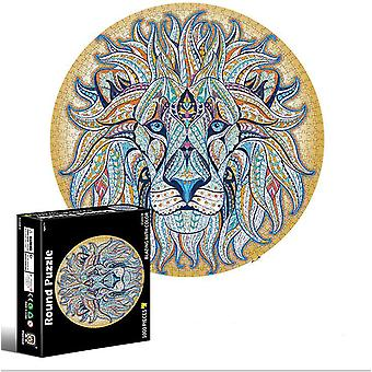 Lion 1000 piece puzzle for adults and children- earth and moon 3d visual puzzles az6182
