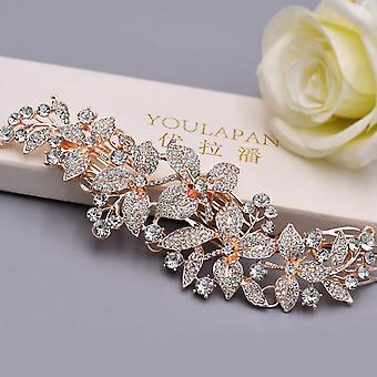 Coroa de Cabeceiras de Noiva de Banda de Noiva de Alloy Flower