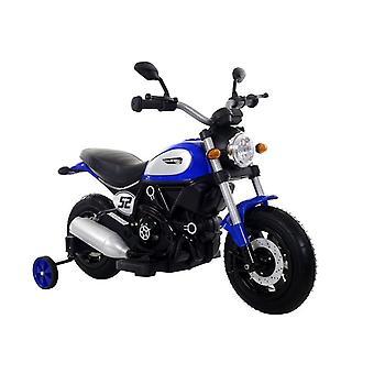 Motor pentru copii cu roți laterale electrice – Albastru