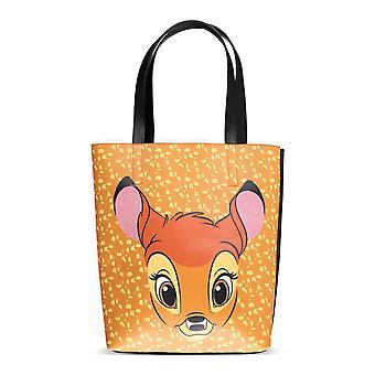 DISNEY Bambi Face Shopper Bag - Brun