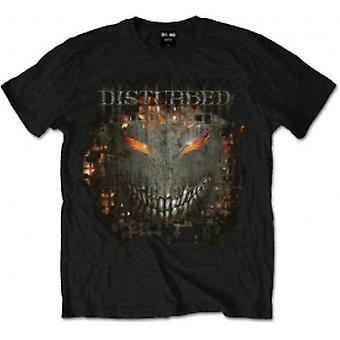 Disturbed Fire Behind Mens Black T Shirt: Medium