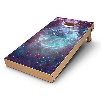 Trippy Space Cornhole Board Skin Decal Kit