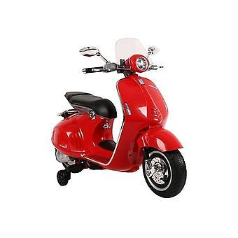 Vespa kinder scooter elektrisch bestuurbaar 45W – Rood