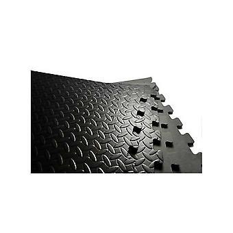 Puzzle Bodenmatte Schaumstoff fliese – 60 x 60 cm – Schwarz – Set von 4