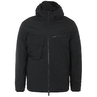 Lyle & Scott Wadded Dual Pocket Face Guard Hooded Jacket - Black
