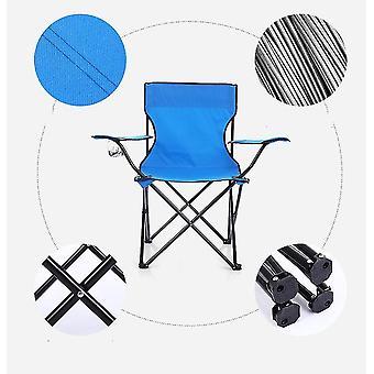 Chaise pliante portable extérieure bleue pour le camping barbecue pique-nique voyage de pêche az1172