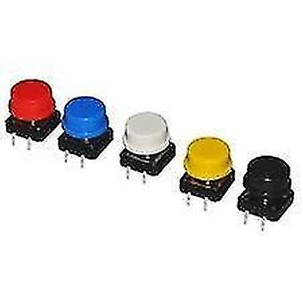 new 20pcs blue round tactile push button switch momentary tact cap sm41925