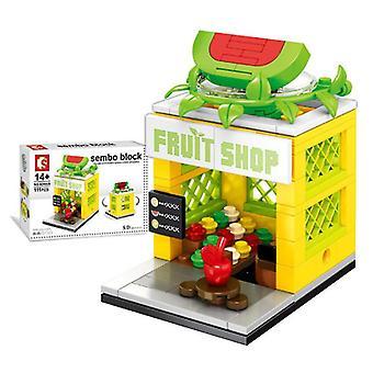 City Street Fruit Shop Building Blocks Model Toy for  Children Mini Gift,Copoz