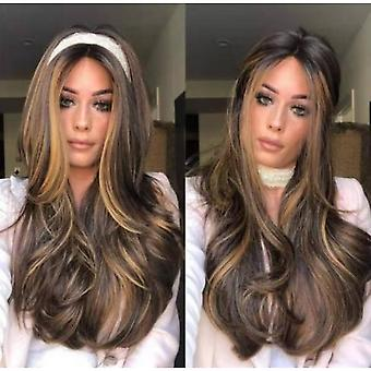 Medium-length Wavy Wigs Can Be Dyed By Hot, Heat-resistant Natural Appearance Wigs, Role-playing Wig