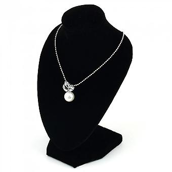 Black Mannequin Necklace Jewelry Pendant Display Stand Holder Show Decorate
