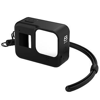 2 stuks siliconen geval voor GoPro Hero 8 beschermende siliconen geval huid behuizing cover bag voor GoPro Hero